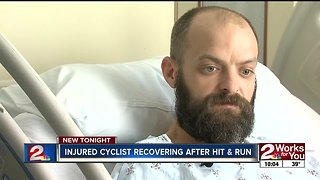 Injured Tulsa cyclist recovering after hit and run