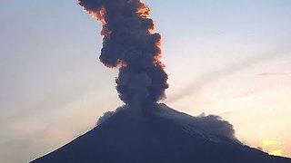 Mexico's Popocatepetl Volcano Spews Ash over Puebla State - Video