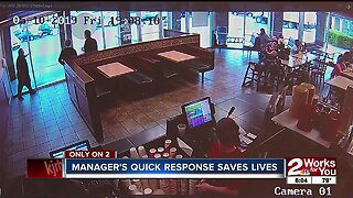 Manager's quick response saves lives