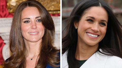 Here's How Meghan Markle's Ring Compares to Kate Middleton's