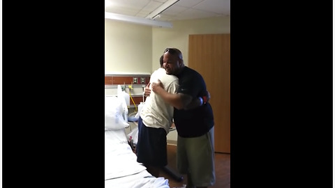 Father dying of lung cancer meets his son for the first time