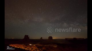 Milky Way over Monument Valley - Video