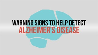 Warning signs to help detect Alzheimer's disease