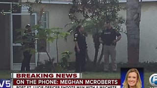Port St. Lucie officer shoots man with a machete - Video