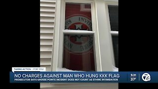 KKK flag displayed in Grosse Pointe Park home does not warrant Ethnic Intimidation charge, prosecutor says