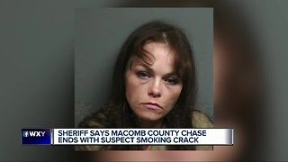 Woman reportedly smokes crack cocaine after crashing into deputy vehicles in Harrison Township