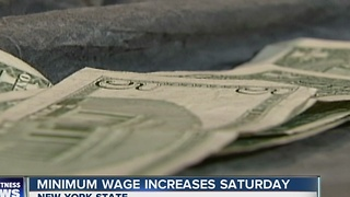 New York's minimum wage will increase on Saturday