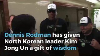 Dennis Rodman Brings A Bit Of Trump To North Korea