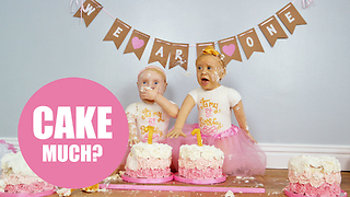 Talented baker creates life-sized cake versions of her twin daughters - Video