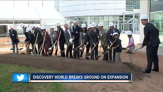 Discovery World breaks ground on $18-million expansion project - Video