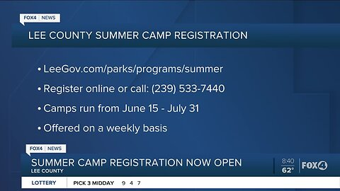 Lee County Summer Camp sign up underway