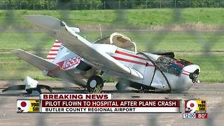 Small plane crashes at Butler County Regional Airport - Video