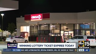 Winning lottery ticket expires Monday