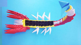 3D Origami Scorpion Tutorial - how to make a origami Scorpion tutorial 3D *=