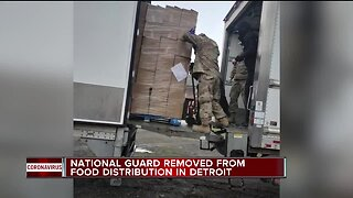 Michigan National Guard deployed to deliver free food in Detroit, then pulled