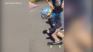 """""""Superhero"""" kids make 5-year-old's birthday a day to remember at skate park"""