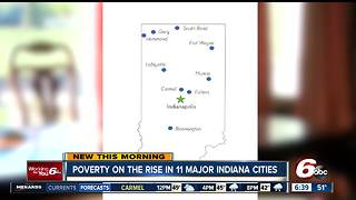Poverty on the rise in 11 major Indiana cities - Video