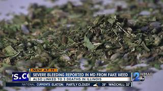 Severe bleeding reported in Maryland from synthetic marijuana - Video