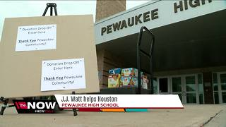 J.J. Watt raising money, collecting supplies for Harvey victims - Video