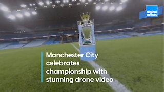 Drone video fit for a champion