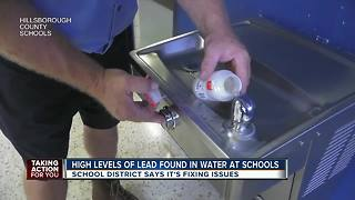 Water testing reveals dozens of Hillsborough County school fixtures with above normal lead levels - Video