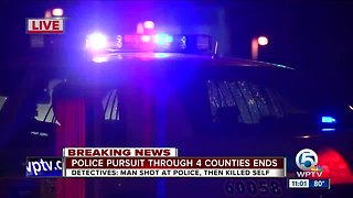Police pursuit through 4 counties ends with suspect dead