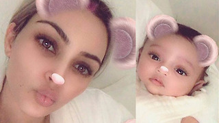 Kim Kardashian Shares FIRST Ever Photo of New Baby Chicago West with Adorable Instagram Filter - Video