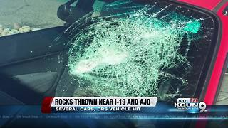 Several cars and DPS vehicle damaged by thrown rocks near Ajo and I-19 - Video