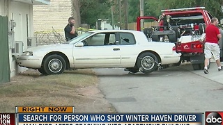Search for person who shot Winter Haven Driver - Video
