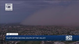 Wall of dust moving through Sun Lakes