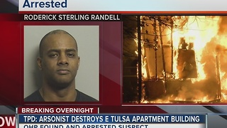 Apartment building destroyed by arsonist - Video