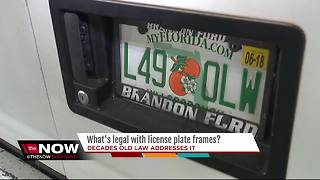 What's legal with license plate frames? - Video