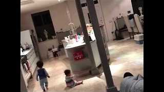 Big Brother Loves to Entertain Baby Sister - Video
