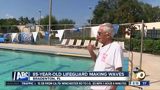 85-year-old lifeguard making waves