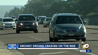 Drowsy driving crashes on the rise - Video