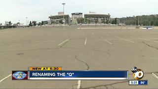 Renaming Qualcomm Stadium - Video