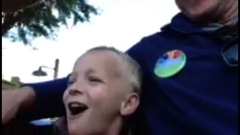 Boy Goes On His First Rollercoaster