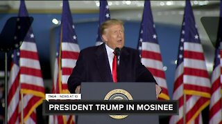 Trump emphases cultural, economic issues during campaign event in Mosinee, Wis.