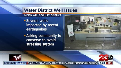 Water District faces well issues following earthquakes