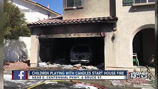 Firefighters: House fire started by children playing with candles - Video