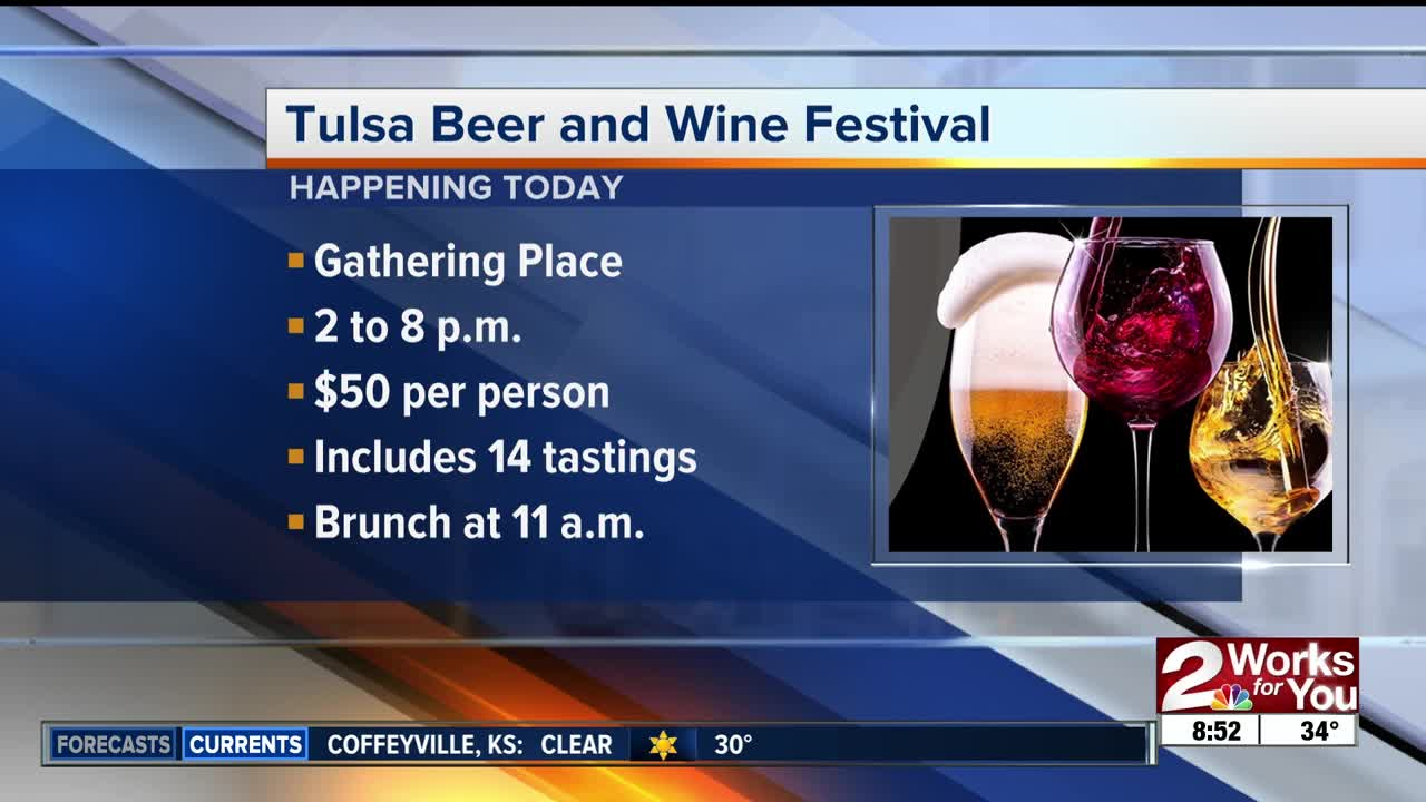 Tulsa Beer and Wine Festival today at Gathering Place