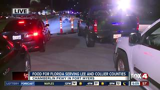 Food for Florida relief site opens in Fort Myers - Video