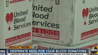 United Blood Services in need of blood donations - Video