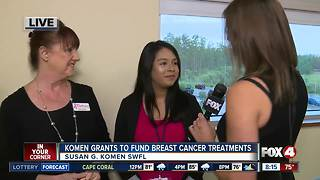 Susan G. Komen grants fund breast cancer treatments