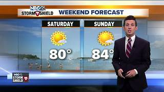 Gorgeous final weekend of July ahead - Video