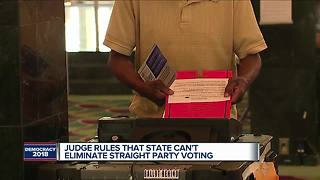 Judge: Michigan can't eliminate straight-party voting - Video