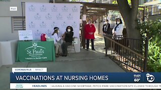 Vaccinations at San Diego County's nursing homes