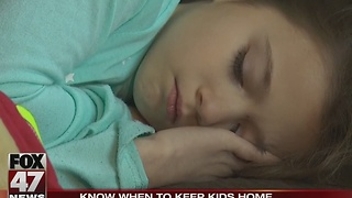 When to keep sick kids home from school
