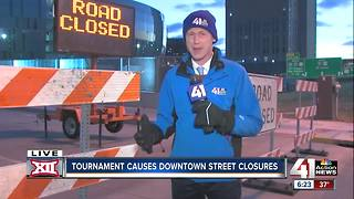 Roads close around Sprint Center for Big 12 basketball tournament - Video