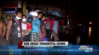 BBB urges thoughtful giving
